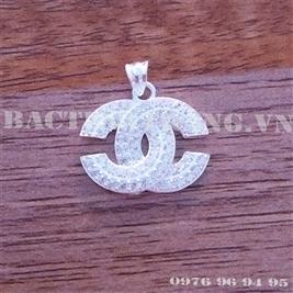 Mặt dây chuyền bạc nữ Chanel