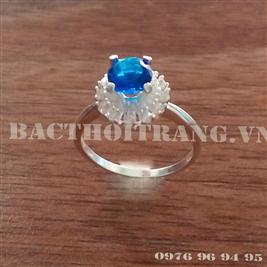 Nhẫn bạc nữ đá xanh