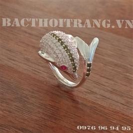 Nhẫn bạc nữ cá heo