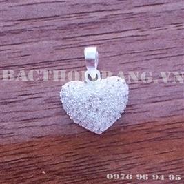 Mặt dây chuyền bạc nữ hình trái tim