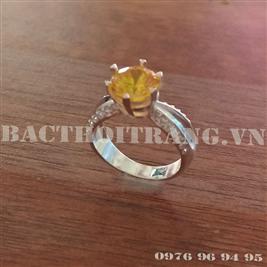 Nhẫn bạc nữ đá vàng