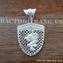 Mặt dây chuyền bạc nam hoa tiết rồng