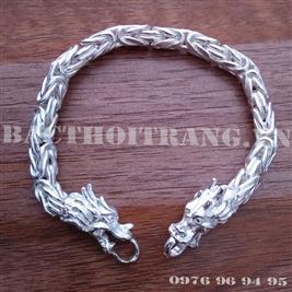 Lắc tay bạc nam đầu rồng