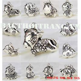 Charm bạc 12 con giáp